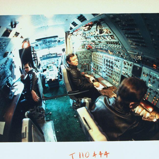 A área do cockpit do An-225.