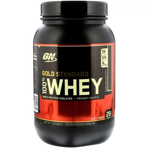 「optimum nutrition」gold standard 100 whey double rich chocolate