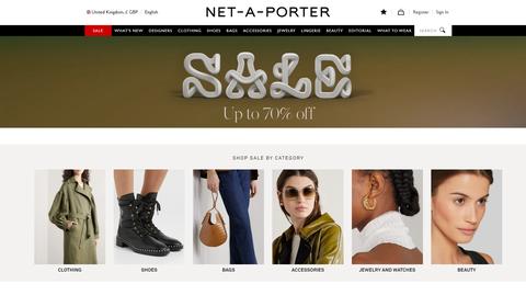 net a porter折扣優惠低至3折