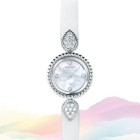 「ブシュロン」の時計「セルパン ボエム ウォッチ スティール」