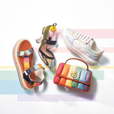 ルイ・ヴィトンの靴、フェンディの靴、コーチの靴、トリー バーチのバッグ