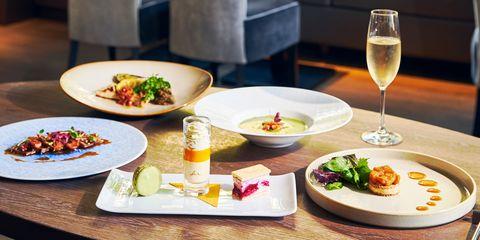 全5皿で構成される限定ディナー