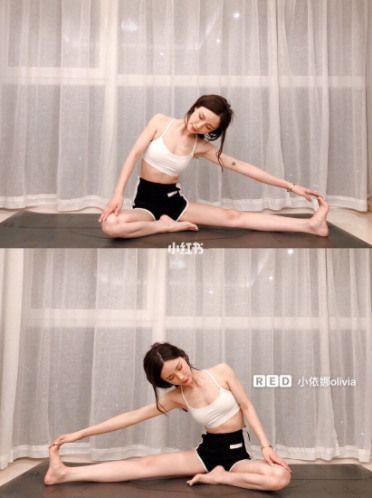 睡前瘦小腿動作2:彎腿伸展
