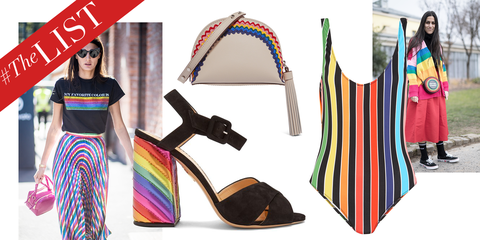 35097709f Rainbow Fashion Trend - Rainbow Striped Clothing And Accessories