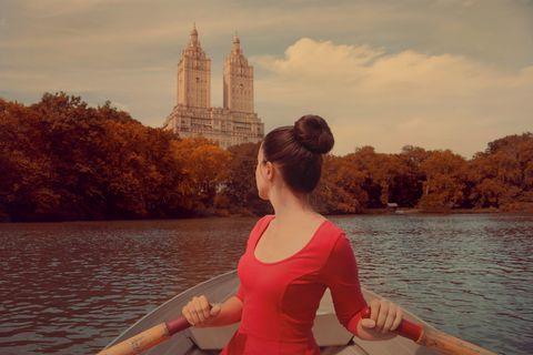 Anna Di Prospero,Central Park, gita barca