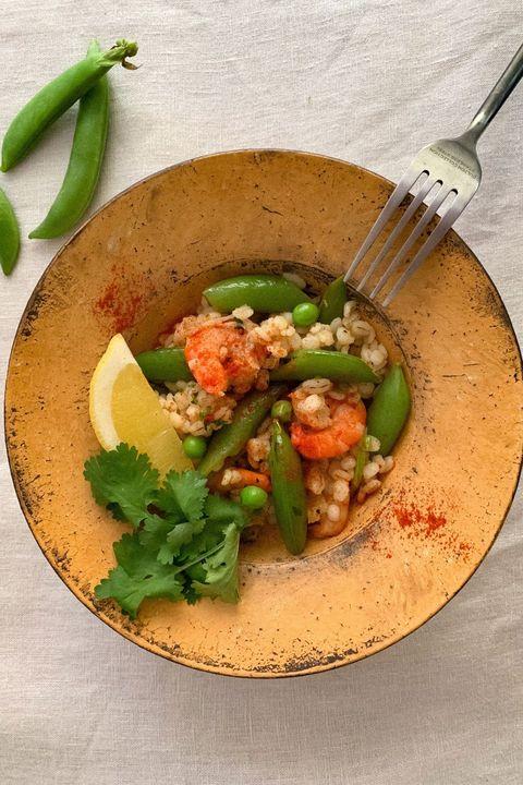 スナップえんどうと大麦のサラダ のレシピ・作り方 ELLE gourmet [エル・グルメ]
