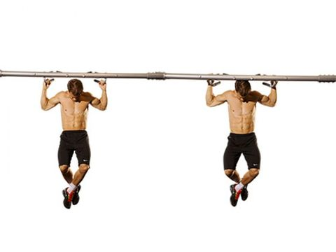 Behind the neck pull up