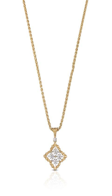 collana mini rombi d'oro