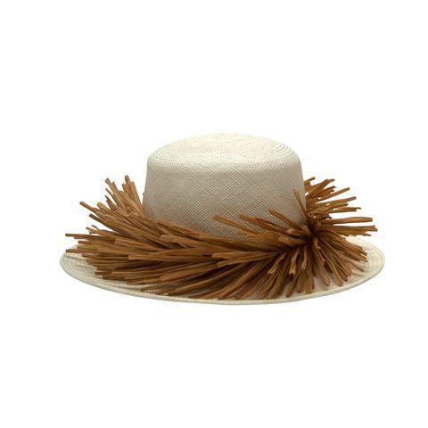 Hat, Costume accessory, Headgear, Beige, Fashion accessory, Pom-pom,