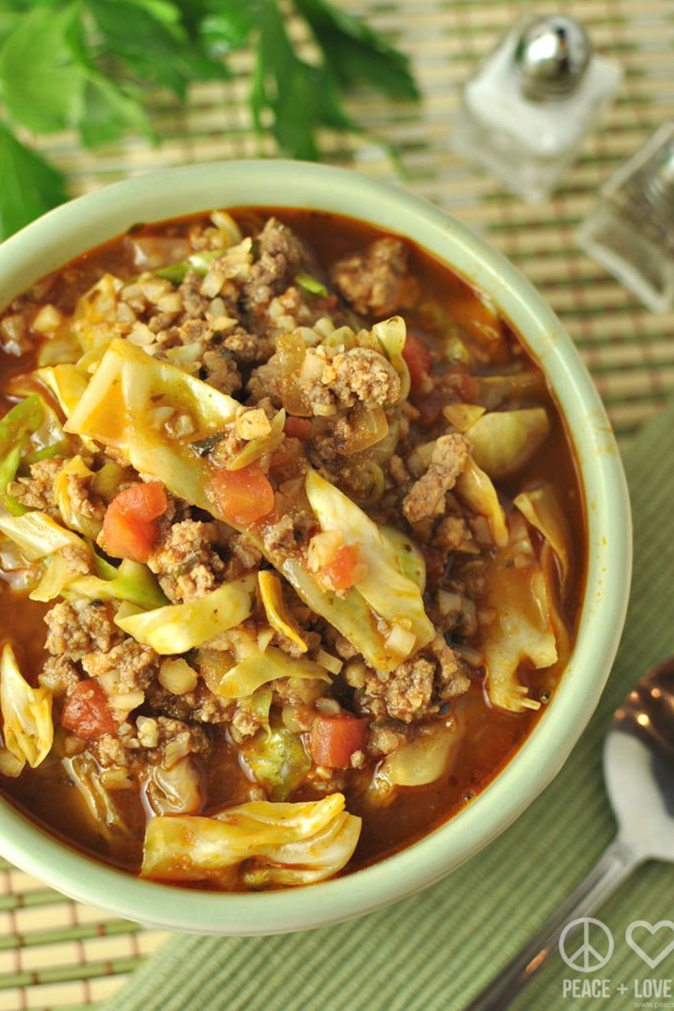 keto cabbage roll soup