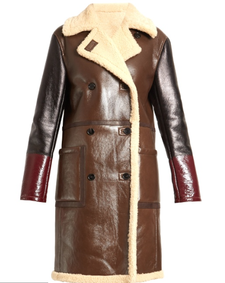 Clothing, Coat, Leather, Outerwear, Jacket, Trench coat, Leather jacket, Sleeve, Brown, Overcoat,