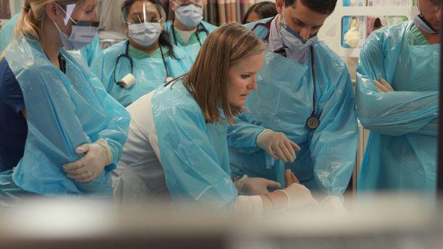 nj nurse cathlyn robinson with trauma team