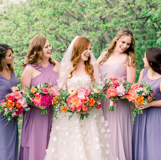 People in nature, Photograph, Bride, Dress, Flower Arranging, Floral design, Ceremony, Event, Gown, Bridal party dress,