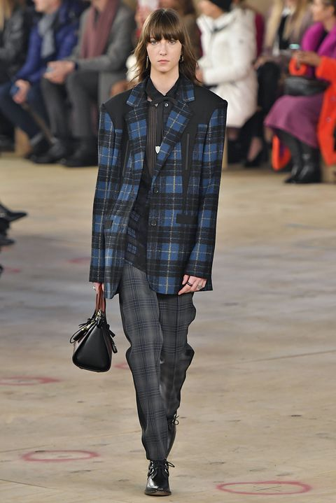 Fashion show, Fashion, Runway, Fashion model, Tartan, Clothing, Plaid, Pattern, Street fashion, Design,