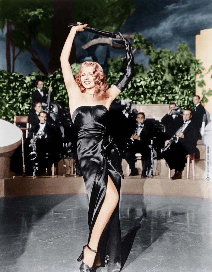 Rita Hayworth stripteases Gilda