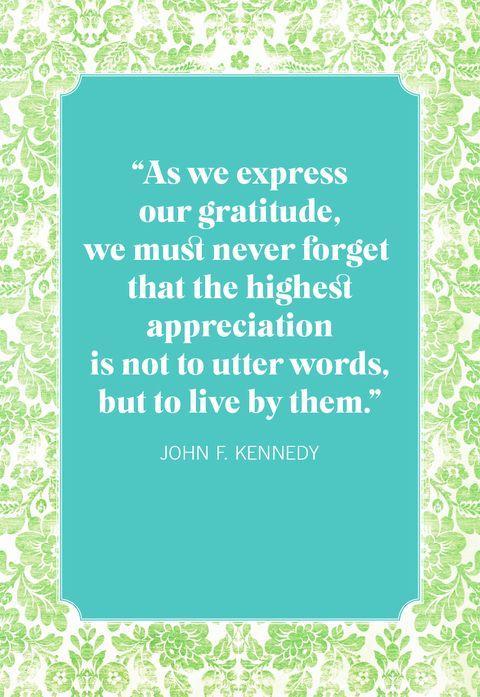 gratitude quotes jfk