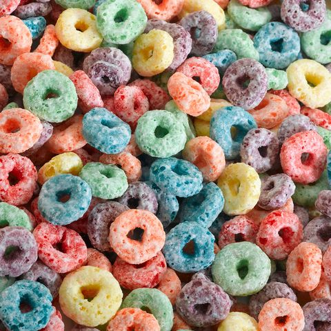 colorful fruit loop cereal