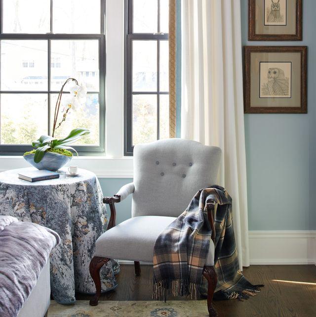 Room, Furniture, Interior design, Curtain, Living room, Window treatment, Floor, Home, Window covering, Wall,