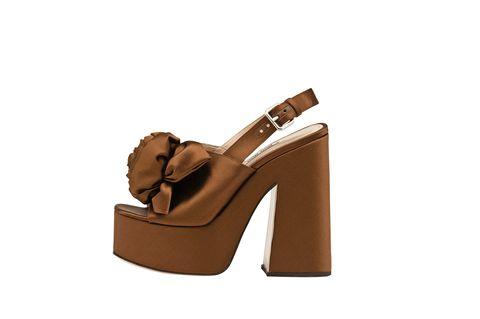 Footwear, High heels, Sandal, Tan, Slingback, Brown, Shoe, Beige, Basic pump, Leather,