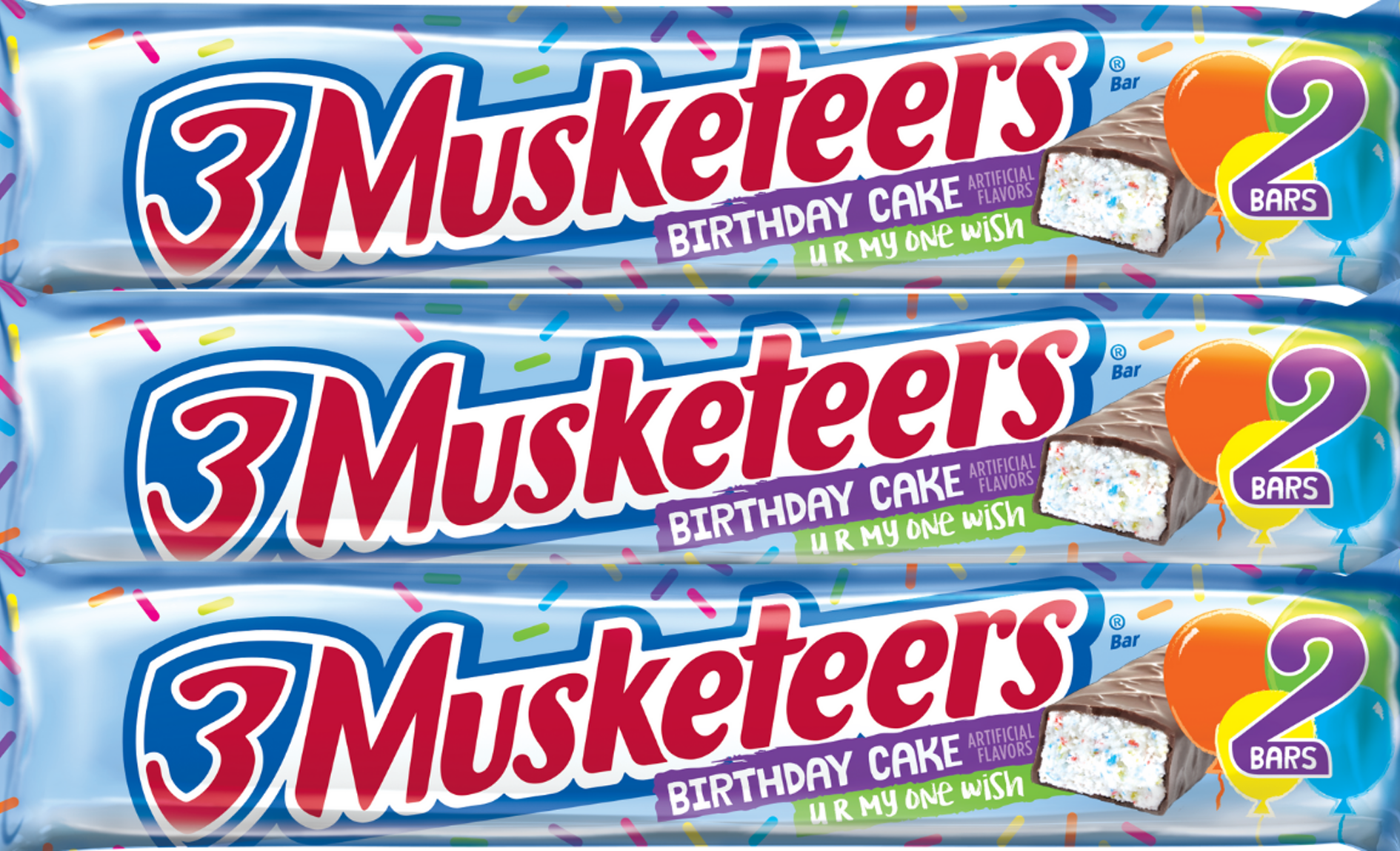 Funfetti Cake In The Form Of A Candy Bar