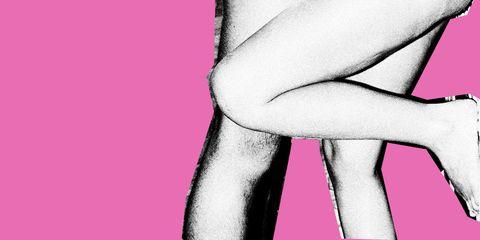 Pink, Leg, Human leg, Joint, Hand, Muscle, Knee, Magenta, Thigh,