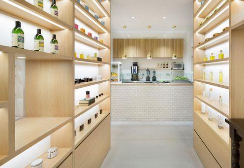 Interior design, Floor, Room, Cupboard, Flooring, Bottle, Shelving, Cabinetry, Shelf, Interior design,