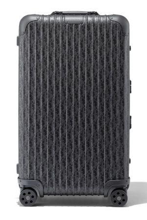 rimowa dior trunk black anthracite grey metallic luggage suitcase