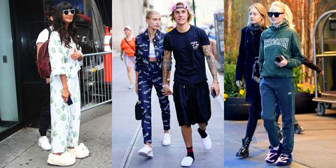Street fashion, Clothing, Fashion, sweatpant, Sportswear, Footwear, Eyewear, Jeans, Shoe, Denim,