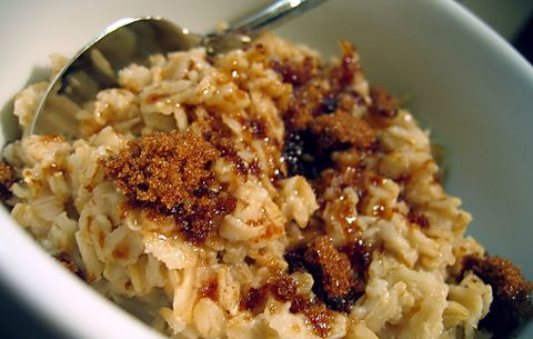 Brown sugar glistening on warm oats