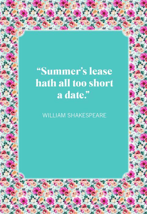 summer quotes william shakespeare