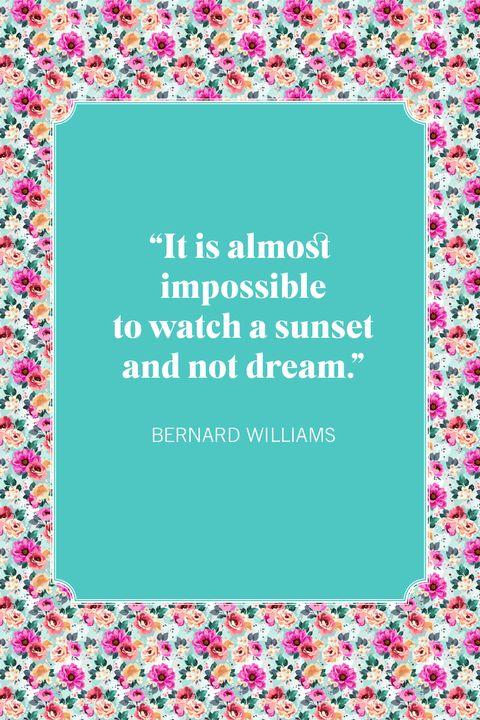 sunset quotes bernard williams