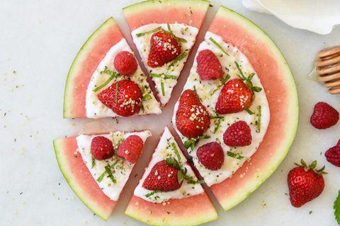 Food, Watermelon, Fruit, Melon, Citrullus, Dish, Fruit salad, Plant, Superfood, Cuisine,