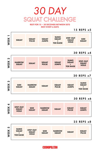 30day squat challenge  this squat workout plan will