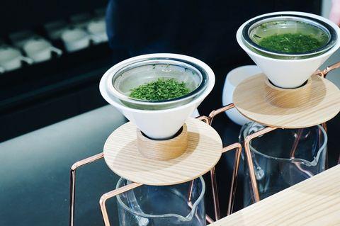 Green, Food, Matcha, Vegetarian food, Drink, Cuisine, Dish, Table, Superfood, Cup,
