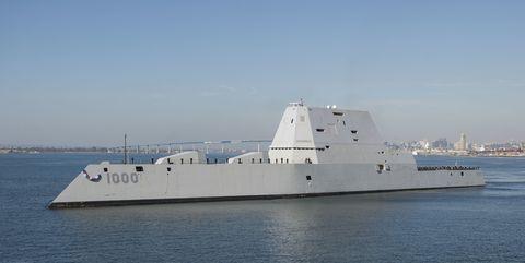 USS Zumalt, DDG-1000. (USS Monsoor is DDG-1001 but appears identical.)