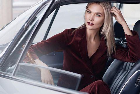 Hair, Motor vehicle, Vehicle, Automotive design, Beauty, Car, Vehicle door, Lip, Model, Blond,