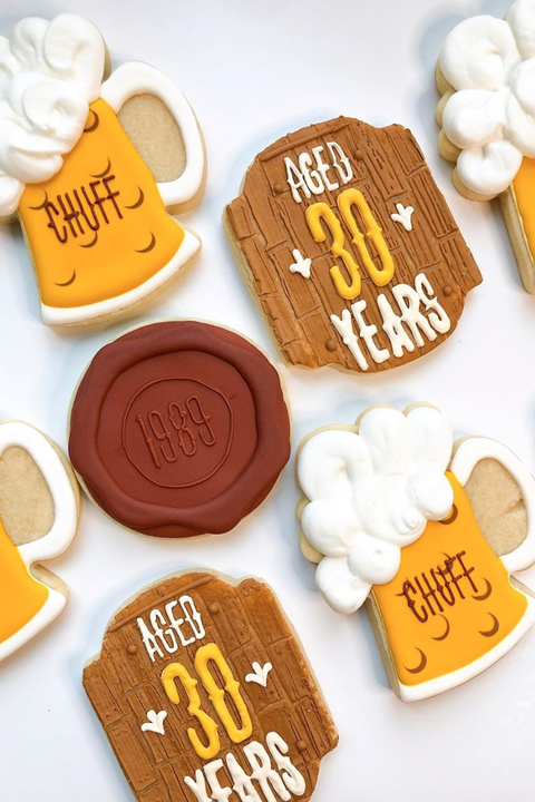 30th birthday beer cookies