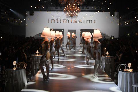 Fashion, Runway, Fashion show, Event, Design, Stage, Model, Haute couture, Performance, Fashion design,