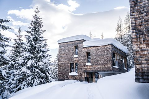 Snow, Winter, Property, Sky, Freezing, House, Tree, Architecture, Home, Building,
