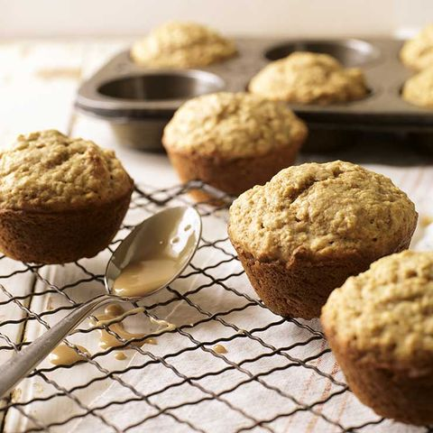 Maple-walnut oat muffins