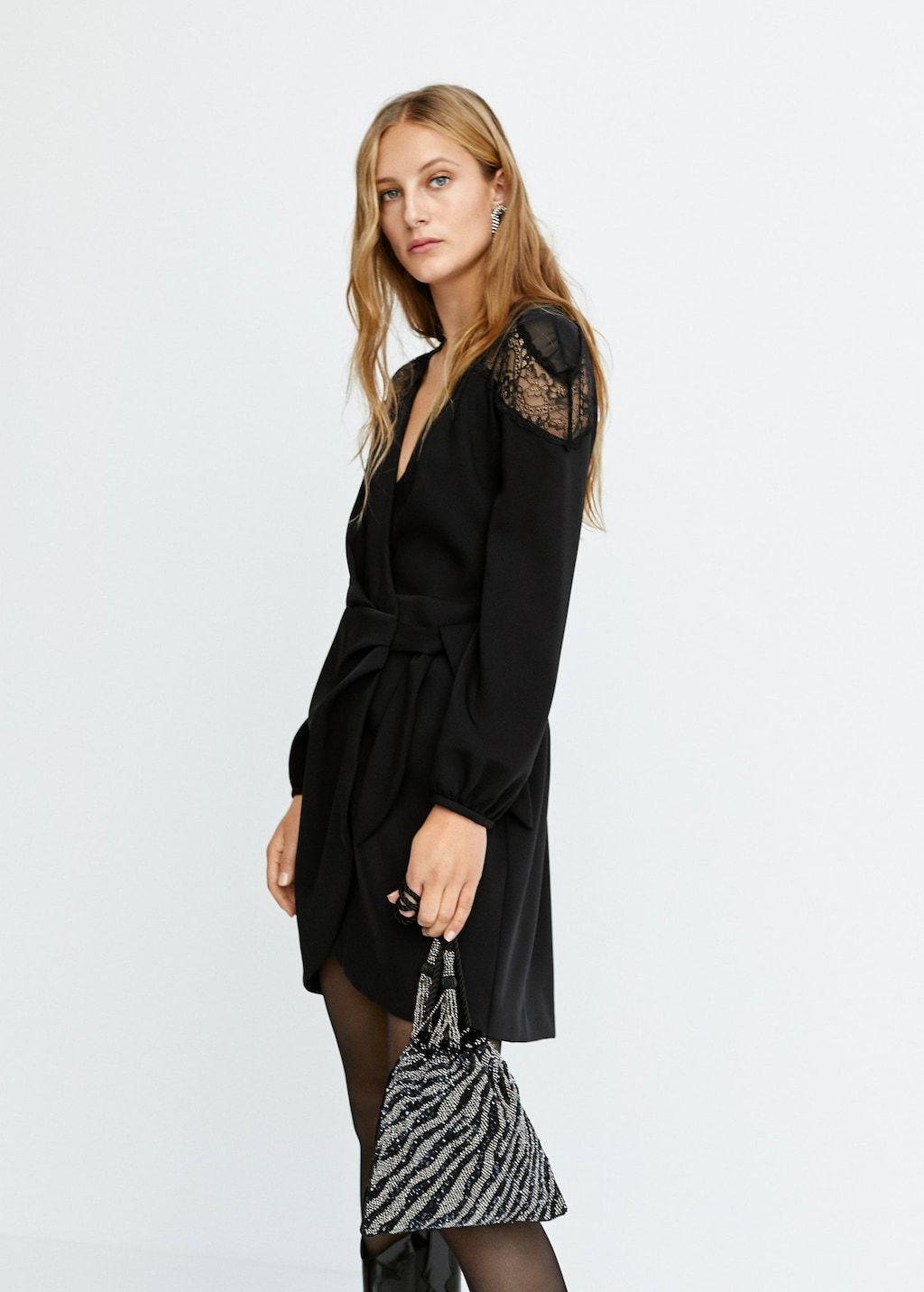 Vestido negro mango 2019