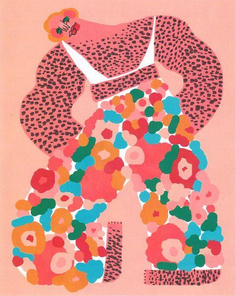 Illustration, Peach, Art,