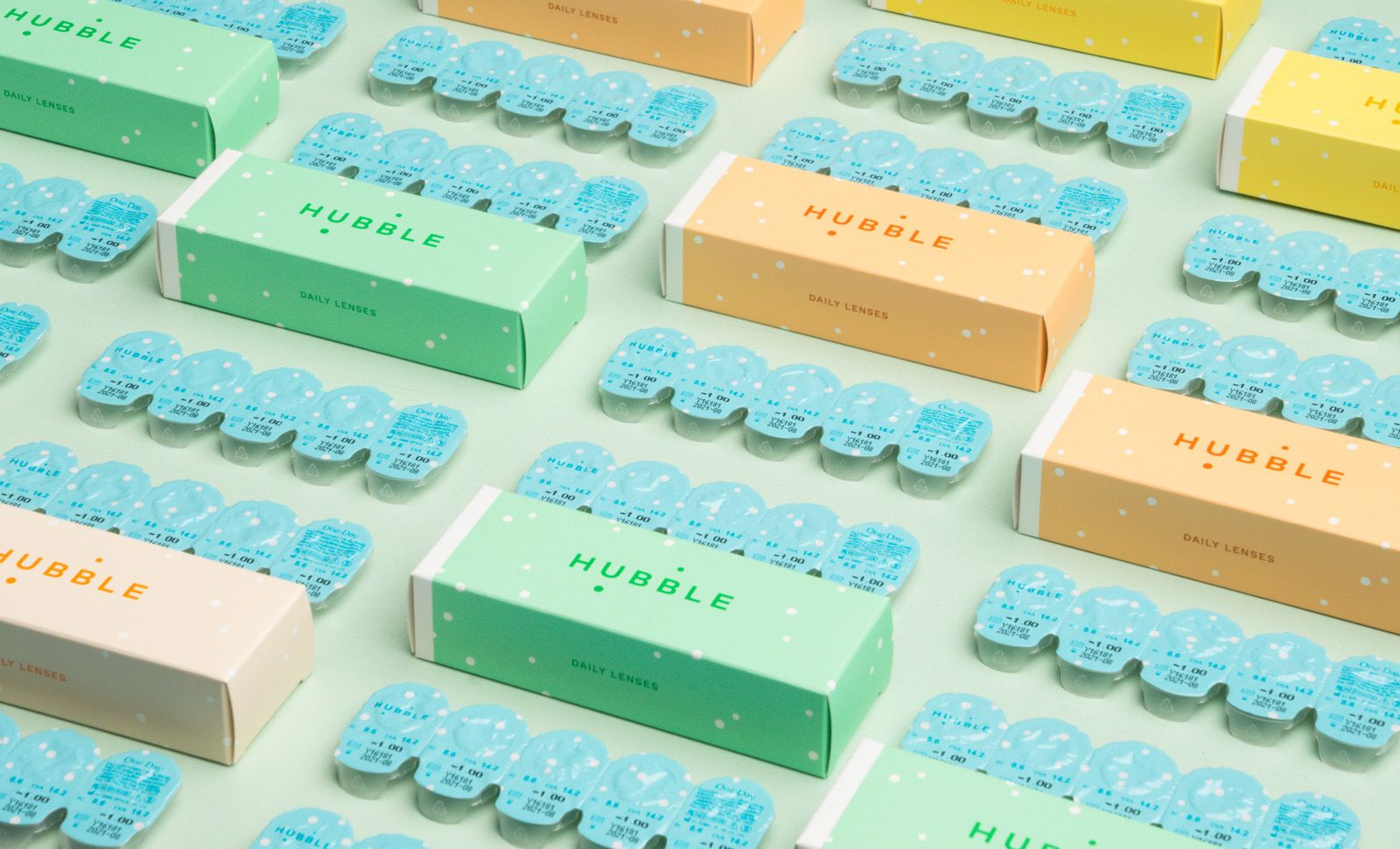 Packs of Hubble contact lenses