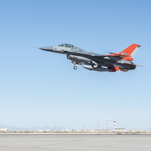 QF-16 takes first flight over Holloman