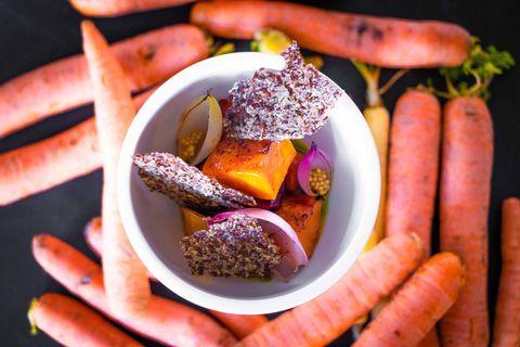 Food, Dish, Cuisine, Carrot, Ingredient, Produce, Vegetable, Vegetarian food, Root vegetable, appetizer,