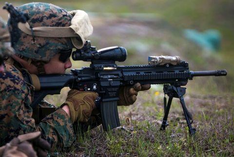Gun, Firearm, Soldier, Rifle, Machine gun, Shooting, Airsoft gun, Airsoft, Recreation, Trigger,