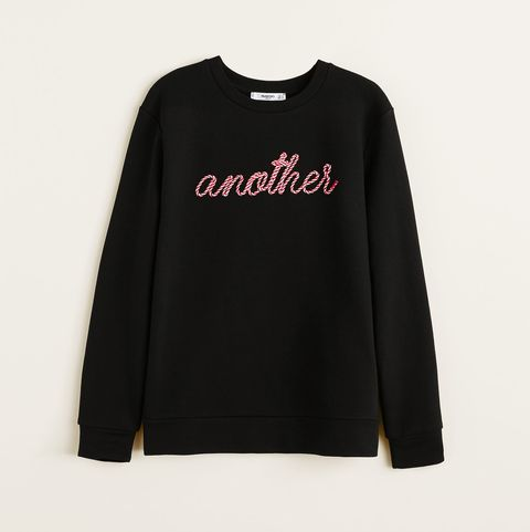 Clothing, Long-sleeved t-shirt, Sleeve, White, Black, T-shirt, Outerwear, Text, Font, Top,