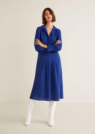1cf7c028adab Fans are loving Lorraine Kelly s wintery blue £69.99 Mango dress