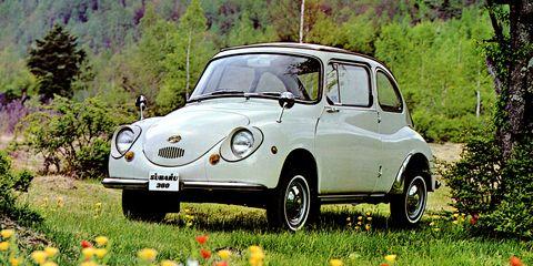 Land vehicle, Vehicle, Car, Regularity rally, Subaru 360, Classic car, Motor vehicle, Coupé, City car, Subcompact car,