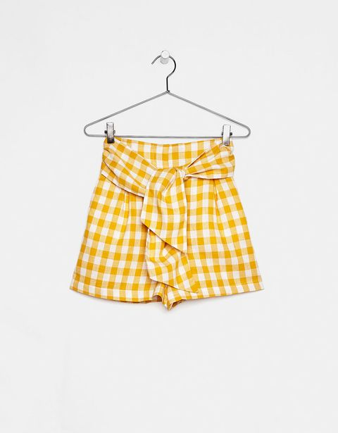 Clothing, Yellow, Shorts, Product, Swimsuit bottom, board short, Pattern, Trunks, Active shorts, Design,
